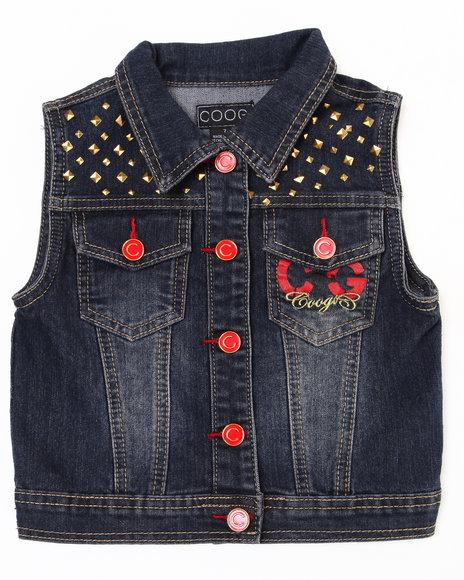 COOGI Girls Dark Wash Denim Vest (7-16)
