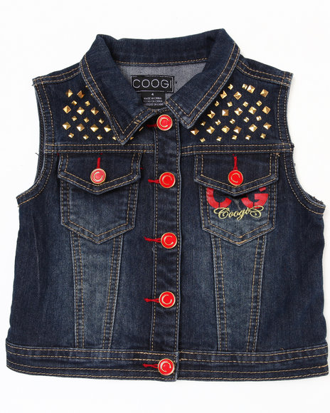 Coogi Girls Dark Wash Denim Vest (4-6X)