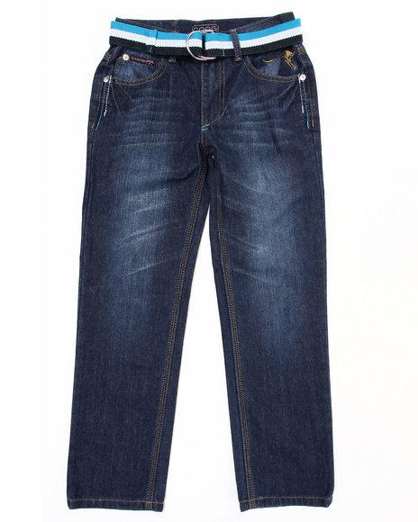 COOGI Boys Dark Wash Belted Jeans (8-20)