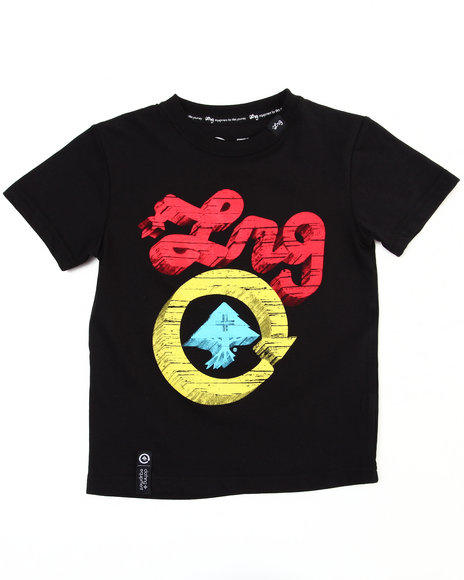 LRG Boys Black Core Collection Five Tee (4-7)