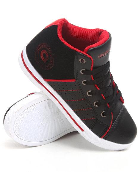 Akademiks Boys Black Perforated Hi Top Sneaker (3.5-7)