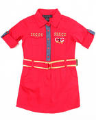 Girls - BELTED WOVEN DRESS (4-6X)