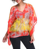 Long-Sleeve - Kimono Top w/jewlery detail
