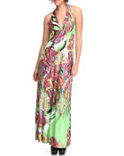 Women - Paisley Printed Halter Dress