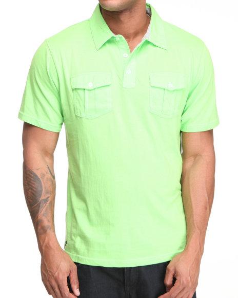 Company 81 Men Lime Green Rylee Double Pocket Polo
