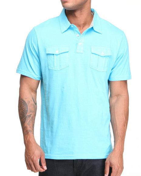 Company 81 Men Light Blue Rylee Double Pocket Polo