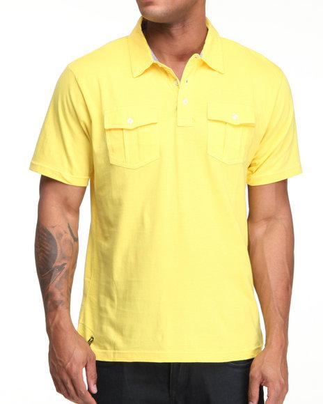 Company 81 Men Yellow S/S Dual Chest Pocket Polo Shirt