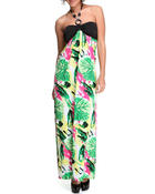Dresses - The Leaf Halter Maxi Dress