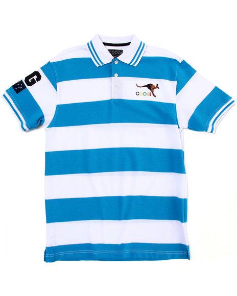 COOGI Boys Blue Striped Polo (8-20)