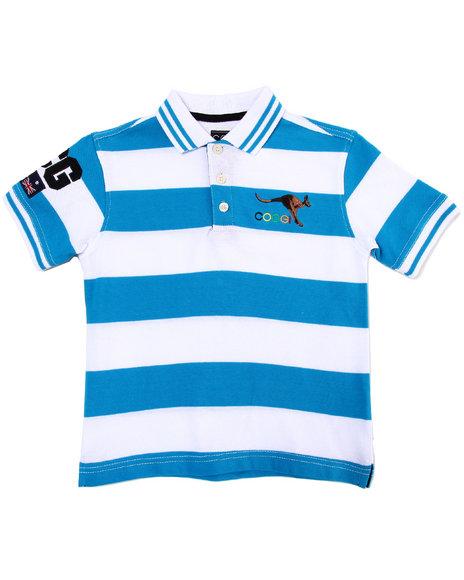COOGI Boys Blue Striped Polo (4-7)