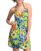 Basic Essentials - Tropical Storm mini dress w/halter