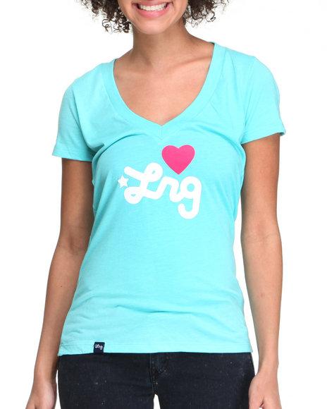 LRG Women Blue Lrg Love Everyone Deep V-Tee