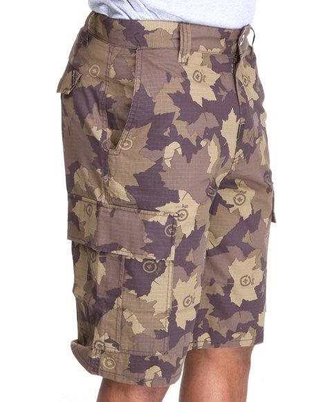 LRG Men Camo,Brown Core Collection Classic Cargo Shorts