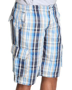 Basic Essentials - Plaid Cargo Shorts