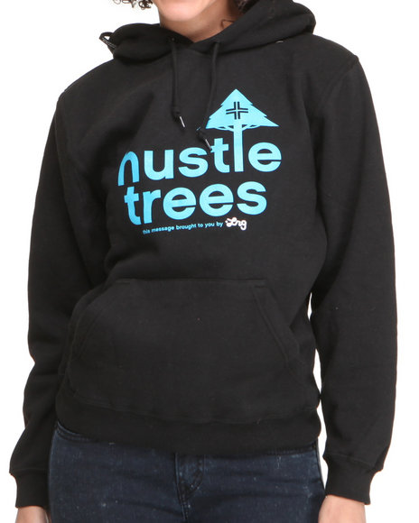 LRG Women Black Lrg Hustle Trees Pullover Hoodie