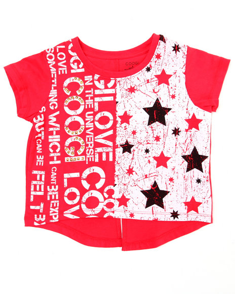 COOGI Girls Red Hi-Low Coogi Love Top (4-6X)