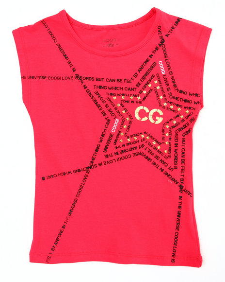 COOGI Girls Red Coogi Star Tee (4-6X)