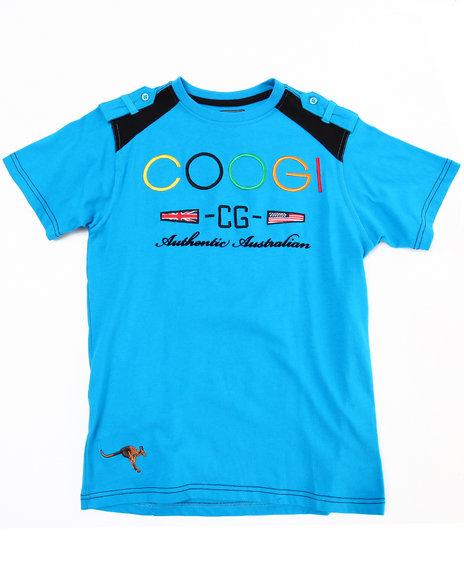 COOGI Boys Blue Crew Neck Coogi Tee (8-20)