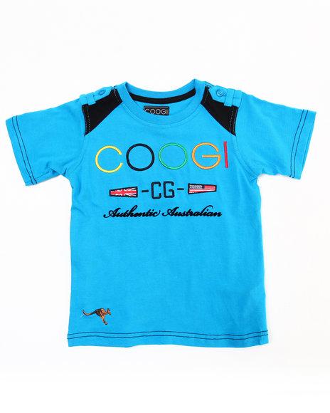 COOGI Boys Blue Crew Neck Coogi Tee (4-7)