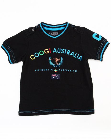 COOGI Boys Black V-Neck Coogi Tee (4-7)