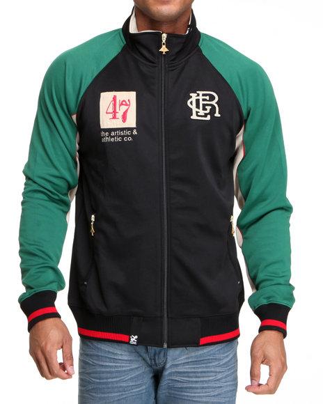LRG Men Black Resolutionary Track Jacket