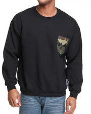 Men - Camo Crewneck Sweatshirt