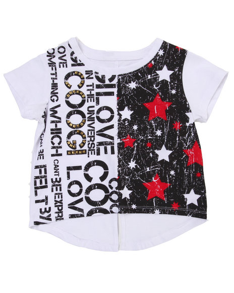 COOGI Girls White Hi-Low Coogi Love Top (4-6X)