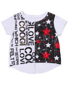 T-Shirts - HI-LOW COOGI LOVE TOP (4-6X)