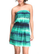 Dresses - Tropic Tube Top Dress