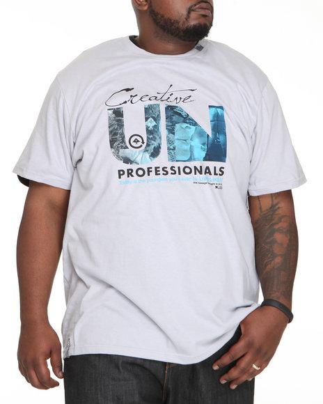 LRG Men Light Grey Live Unprofessional S/S Tee (B&T)