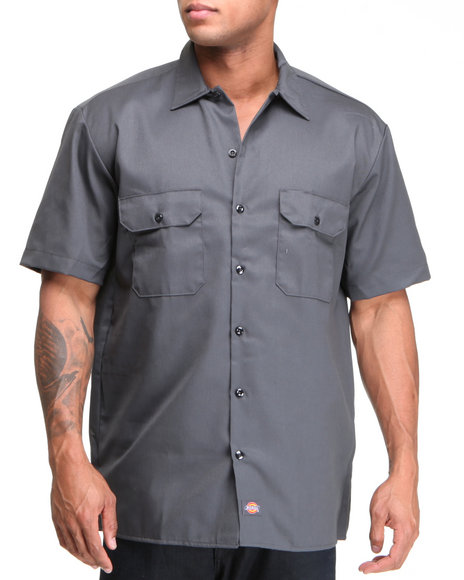 Dickies Charcoal Button-Downs