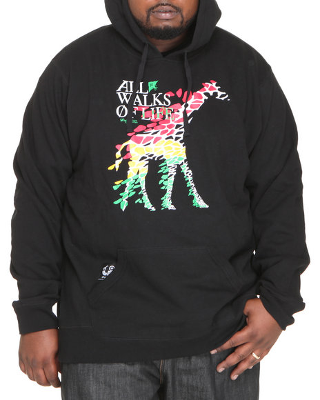 LRG Men Black All Walks Of Life Pullover Hoodie (B&T)