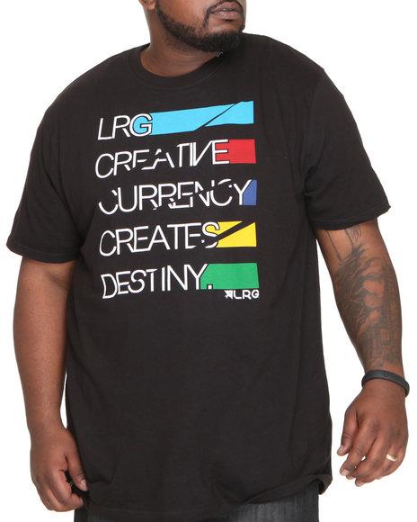 LRG Men Black Creative Currency Tee (B&T)