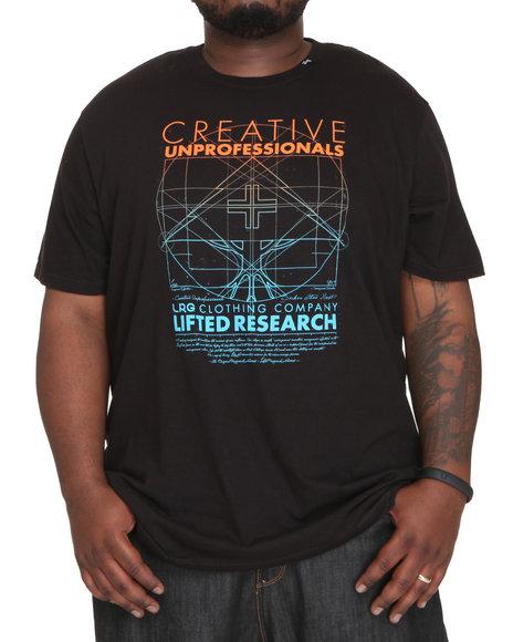 LRG Men Black Creative Unprofessionals Tee (B&T)