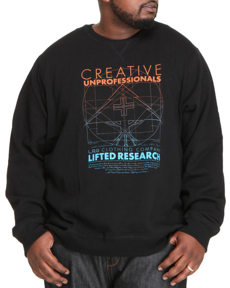 LRG Men Black Creative Unprofessionals Sweatshirt (B&T)