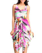 Women - Martine Dress w/print v-neck