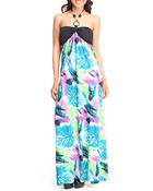 Basic Essentials - The Leaf Halter Maxi Dress