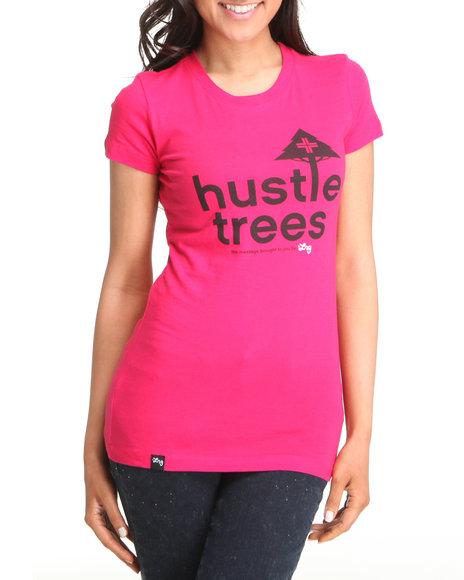 LRG Women Pink Lrg Hustle Trees Tee