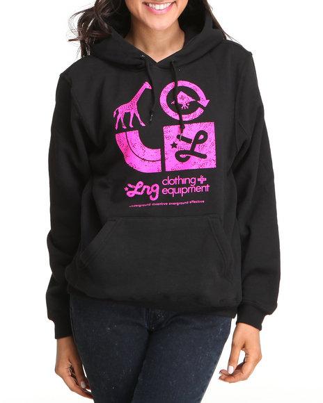 LRG Women Black Lrg Icons Pullover Hoodie