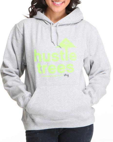 LRG Women Grey Lrg Hustle Trees Pullover Hoodie