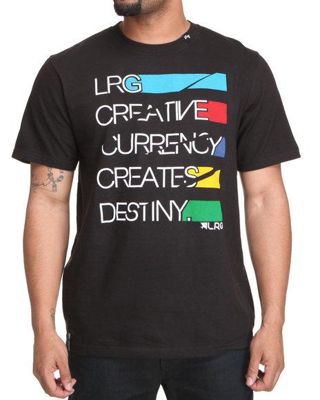LRG Men Black Creative Currency Tee
