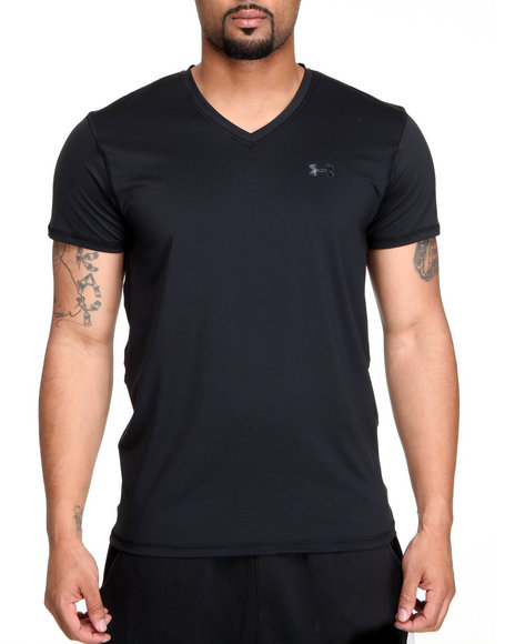 Under Armour Black The Original Fitted V-Neck Tee