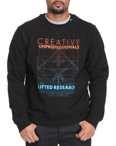 LRG Men Black Creative Unprofessionals Sweatshirt