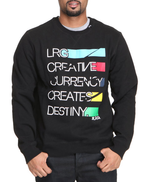 LRG Men Black Creative Currency Sweatshirt