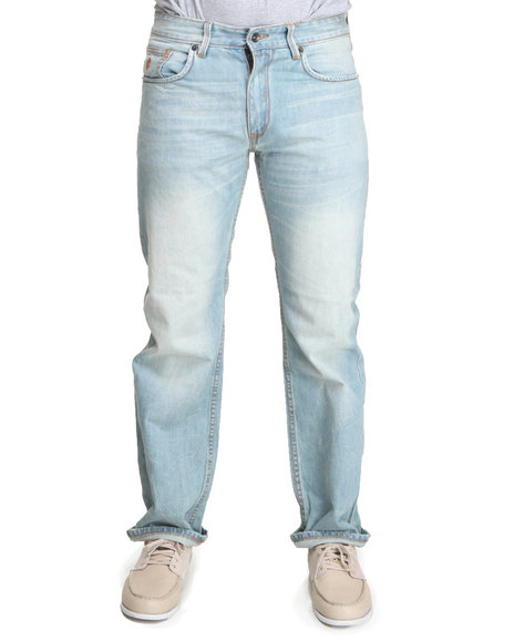 Rocawear Men Light Wash On & On Classic Fit Jeans