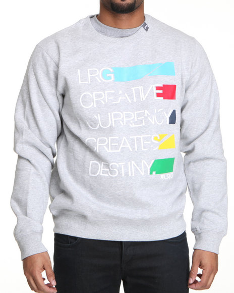 LRG Men Grey Creative Currency Sweatshirt