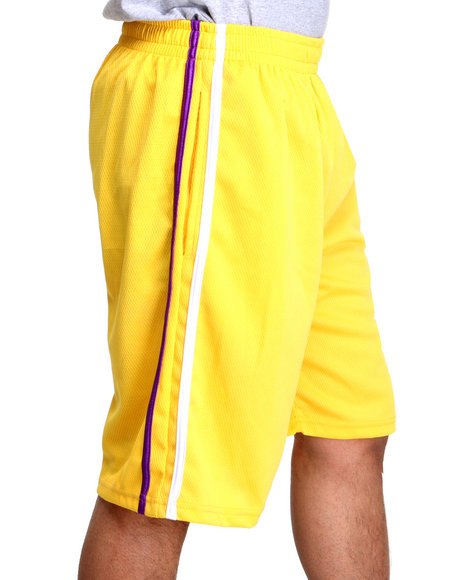 Basic Essentials Men Yellow Rafey Mens Mesh Basketball Shorts