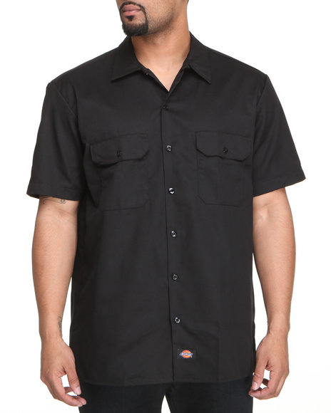 Dickies - Men Black Dickies Short Sleeve Button-Down