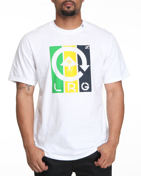 Lrg Men White Building Futures Tee