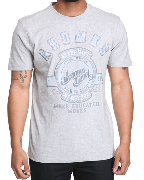 Akademiks Men Grey Illusion Graphic Tee